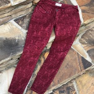 Free People textured skinny jeans 25/27